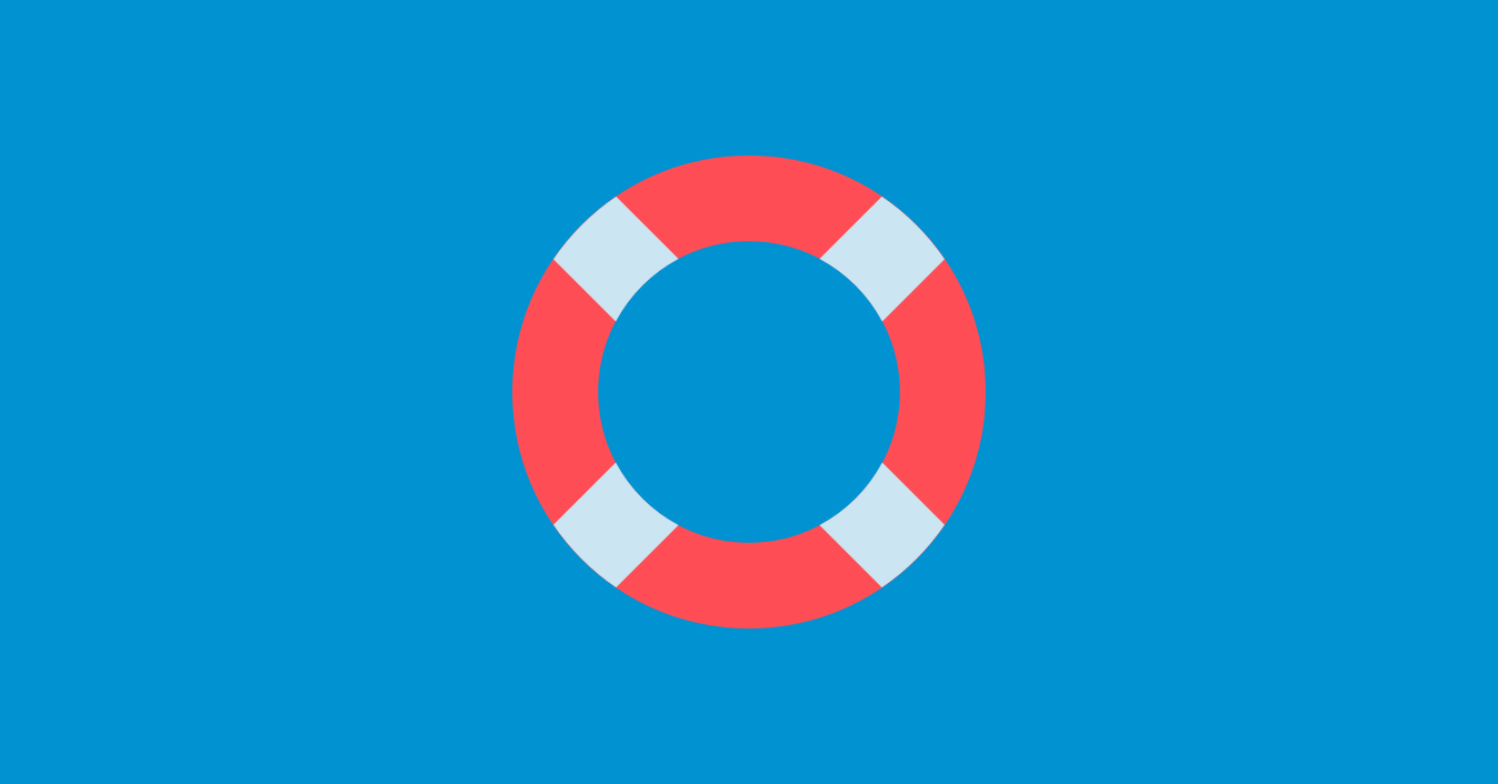 An illustration of a life preserver ring on a blue background