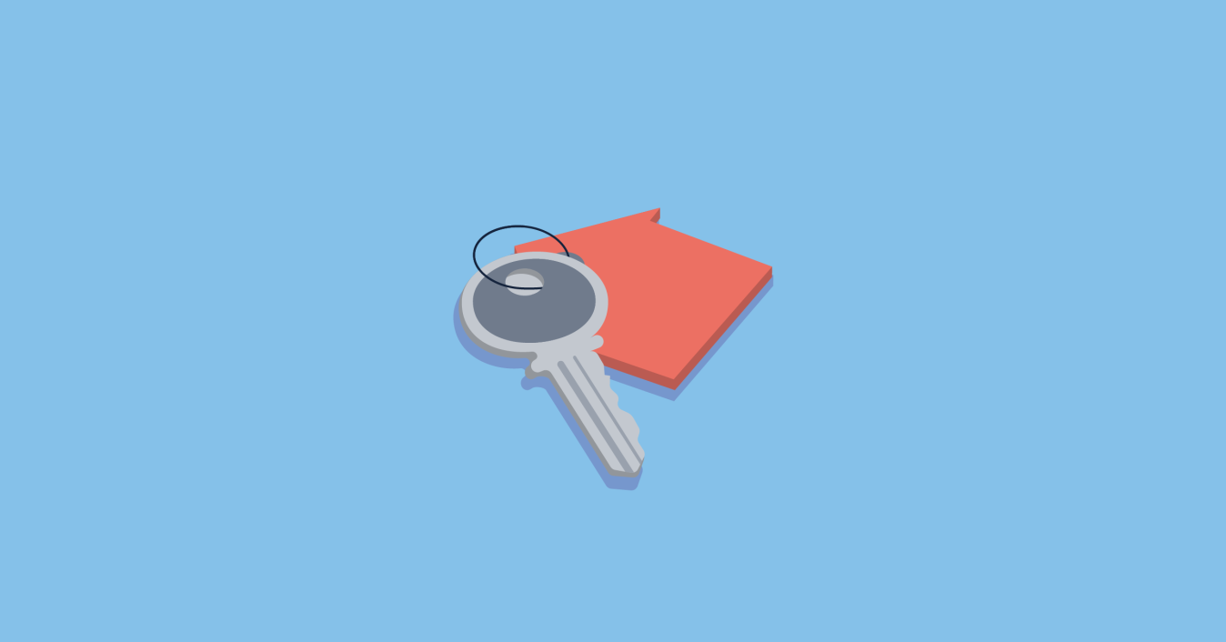 Image of house keys - secured loan