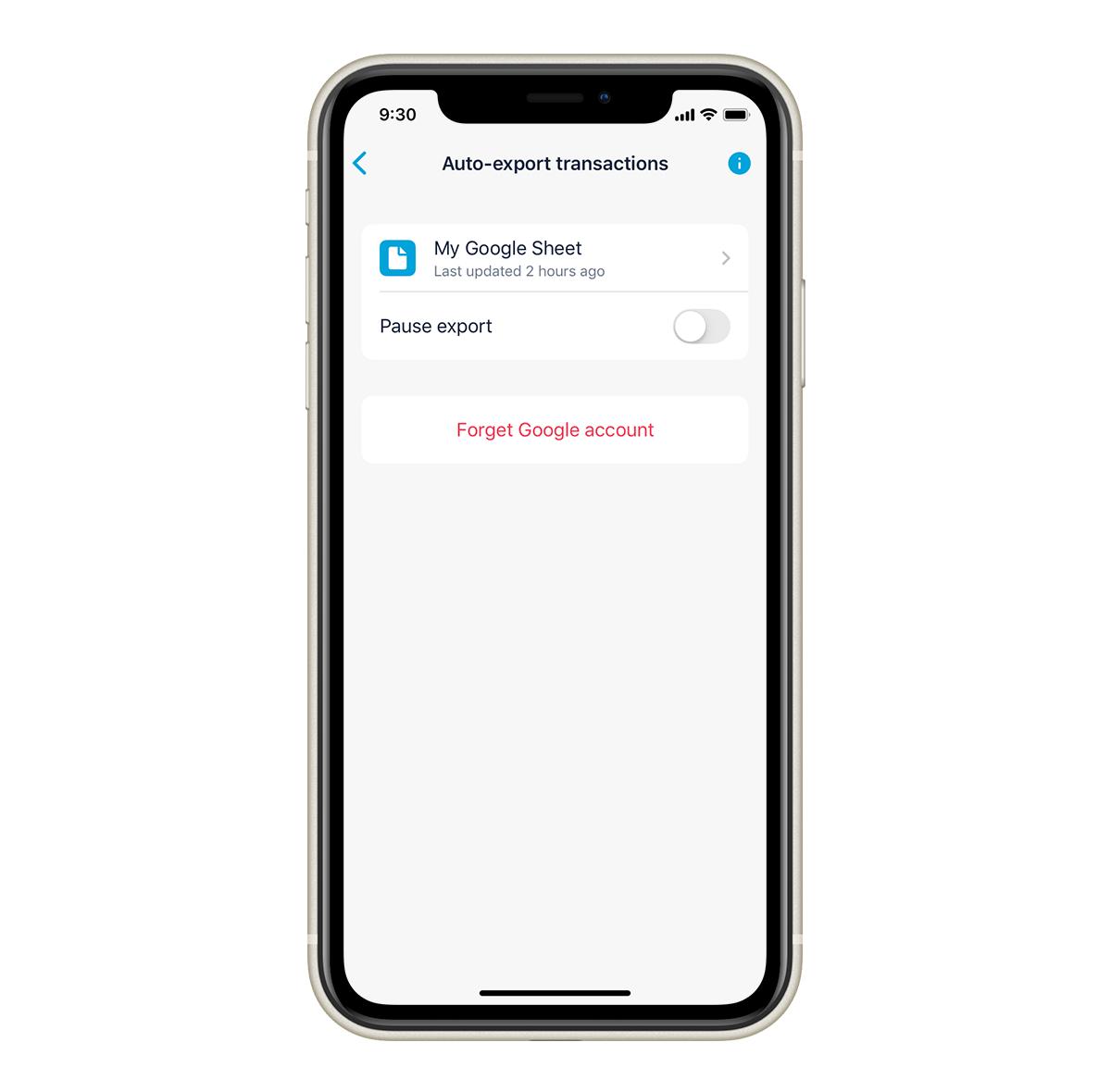 Plus Auto-export iOS 1