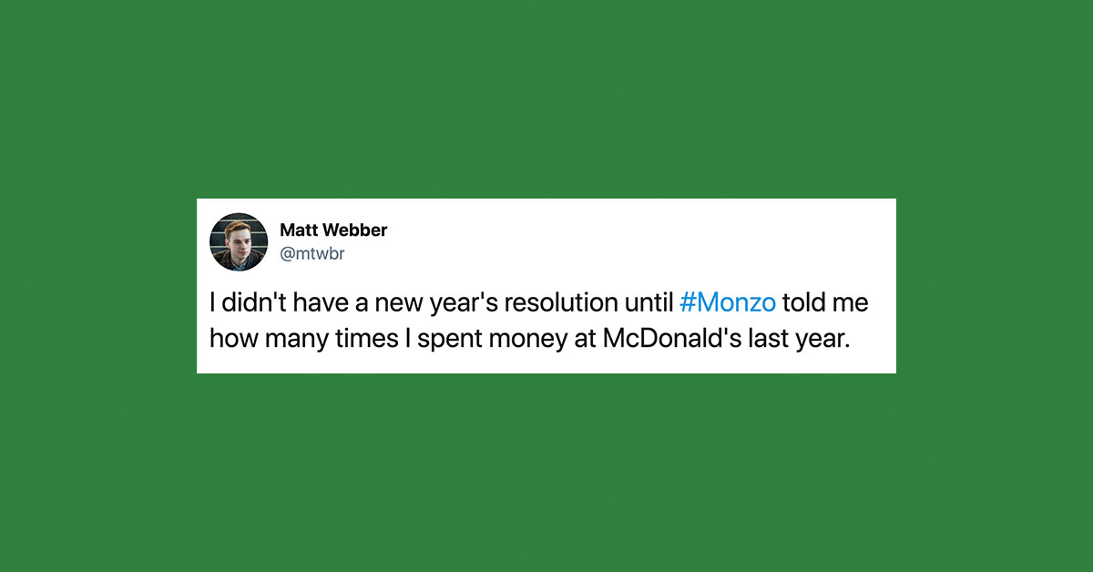 New Year's resolution tweet