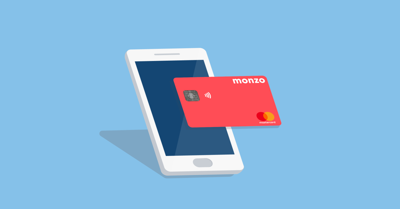 Illustration of a phone and Monzo card