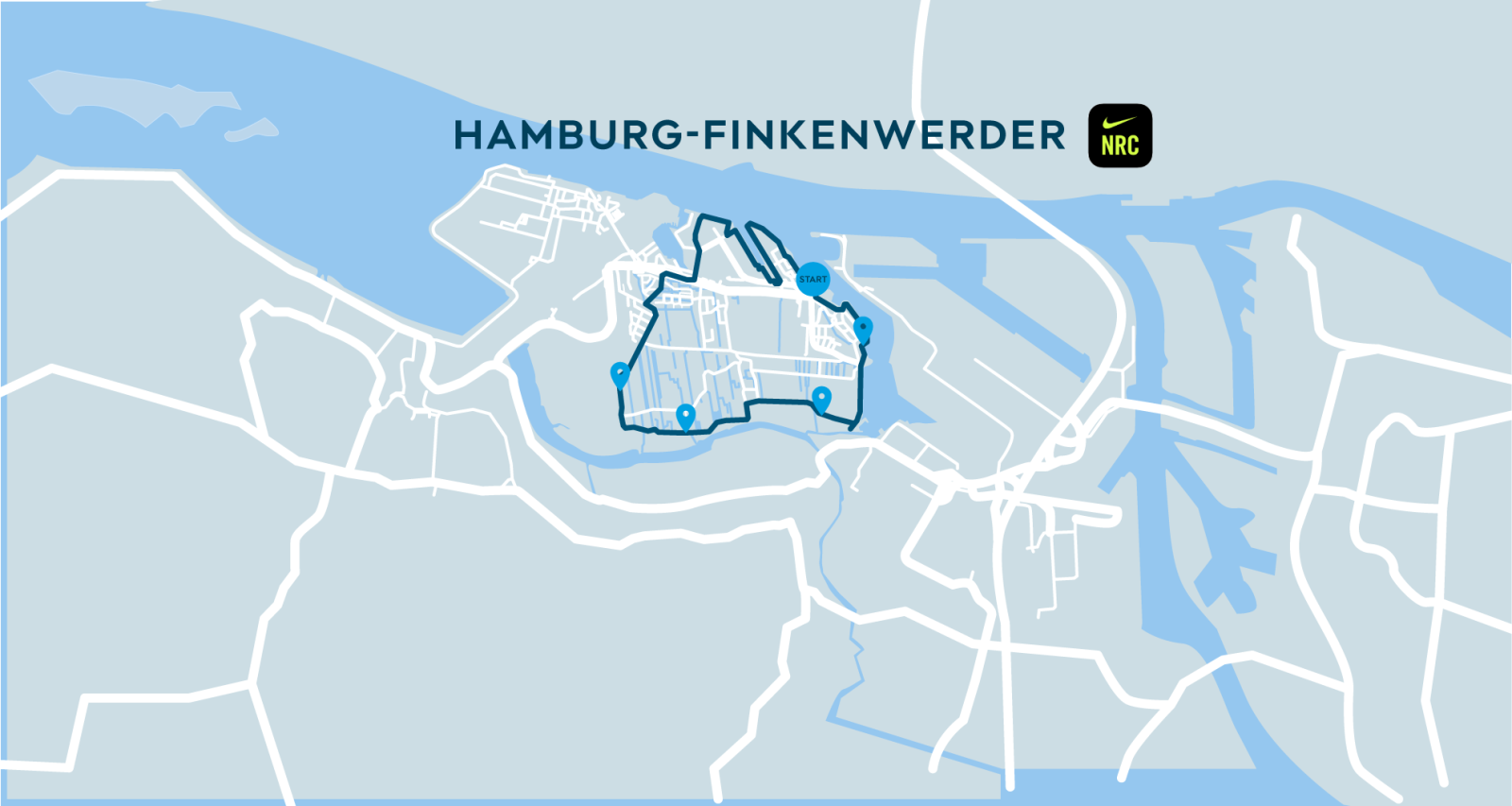 Image Nike Run Club & SHARE NOW Hamburg Map