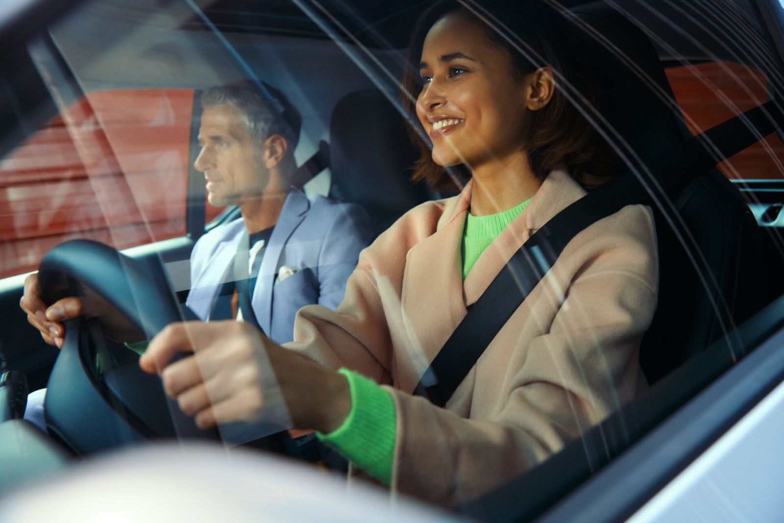 Image Couple driving interior