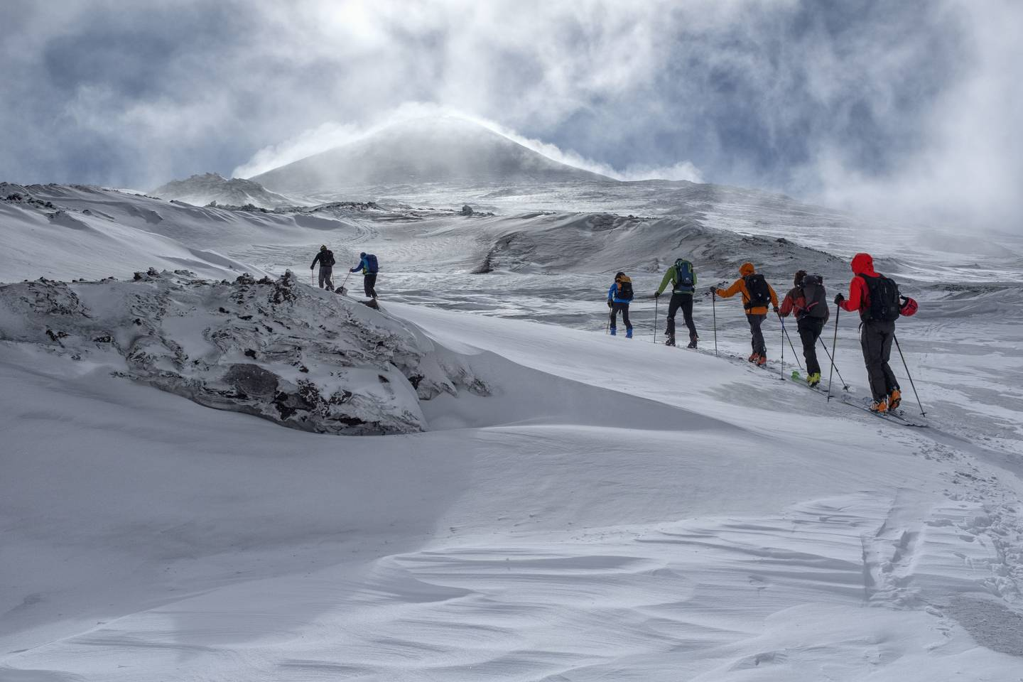 Scialpinismo all'Etna, Quota 3000