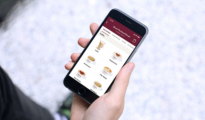 Costa Coffee mobile app