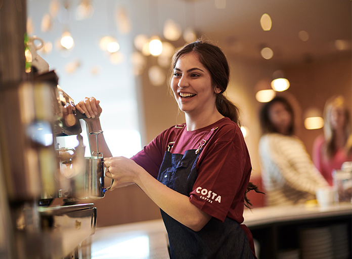 Costa Coffee barista
