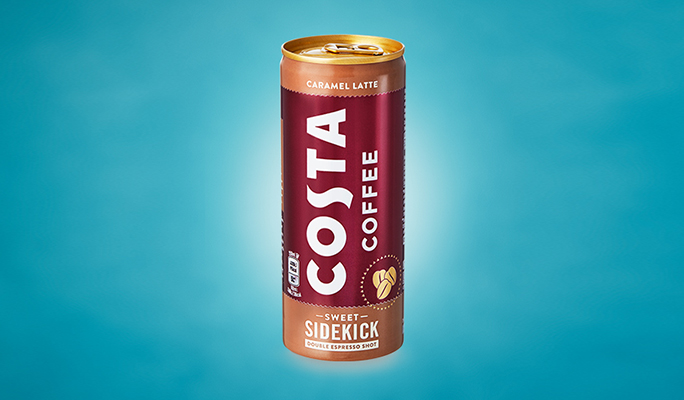 Ready-to-Drink Caramel Latte in a Can