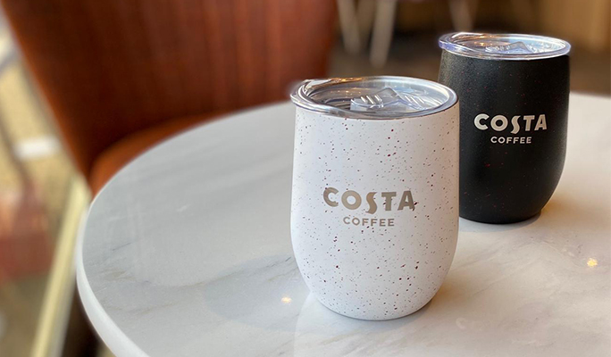 Costa Coffee reusable cups