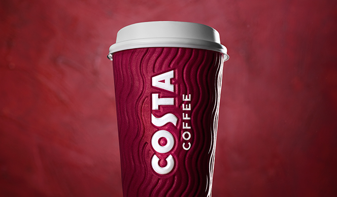 Costa Coffee takeaway cup