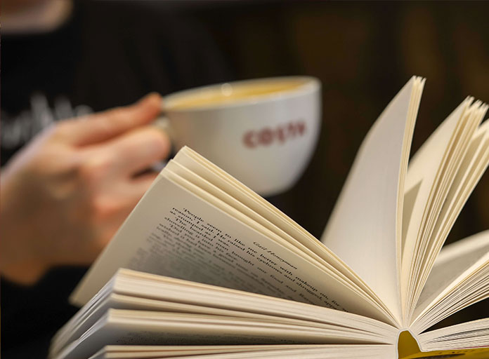 Costa Coffee mug and book