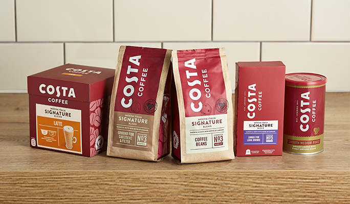 Costa At Home full product range