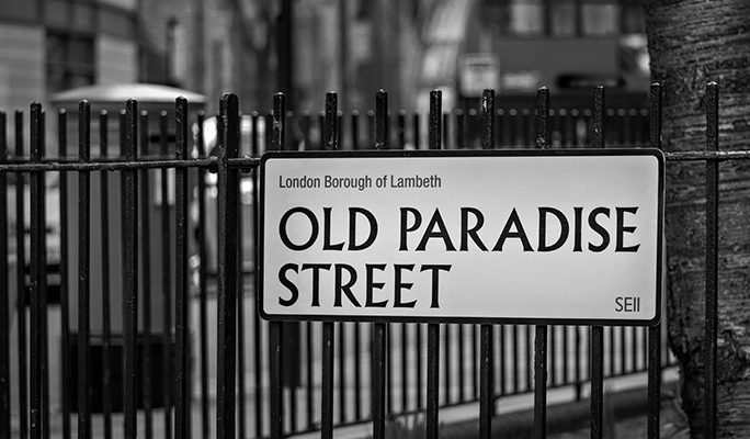 Old Paradise Street street sign