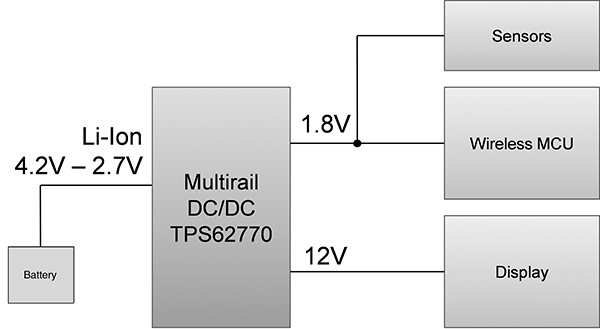 multi-rail DC-DC configuration (cr)