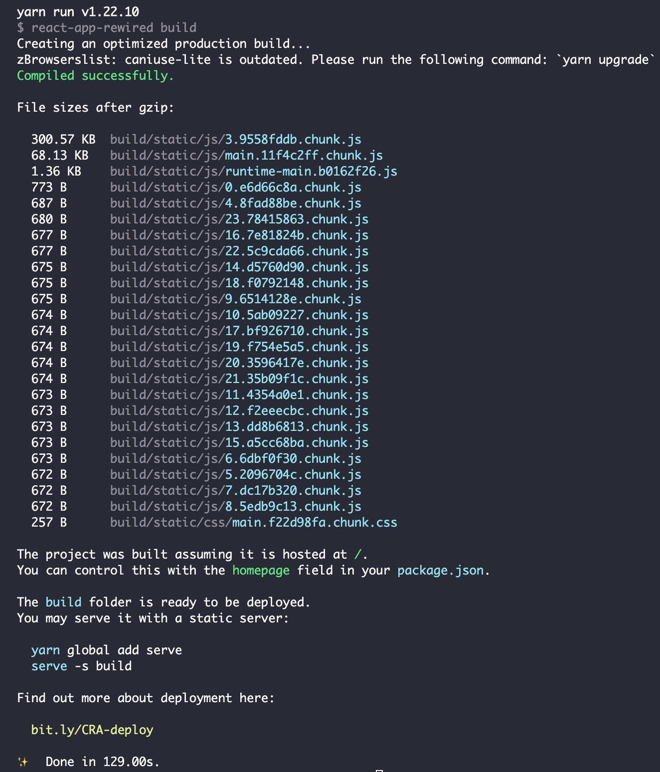 20201215 build log - CRA
