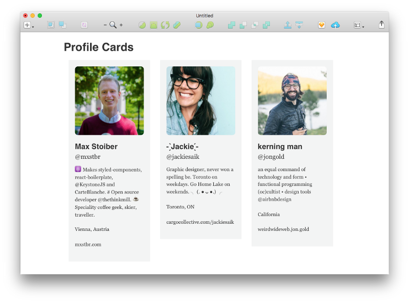 react sketchapp profile card