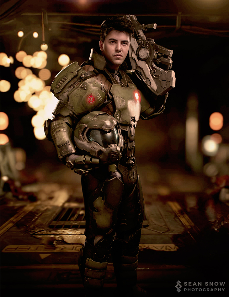 The High Five Nathan Deluca S Doom Marine Cosplay
