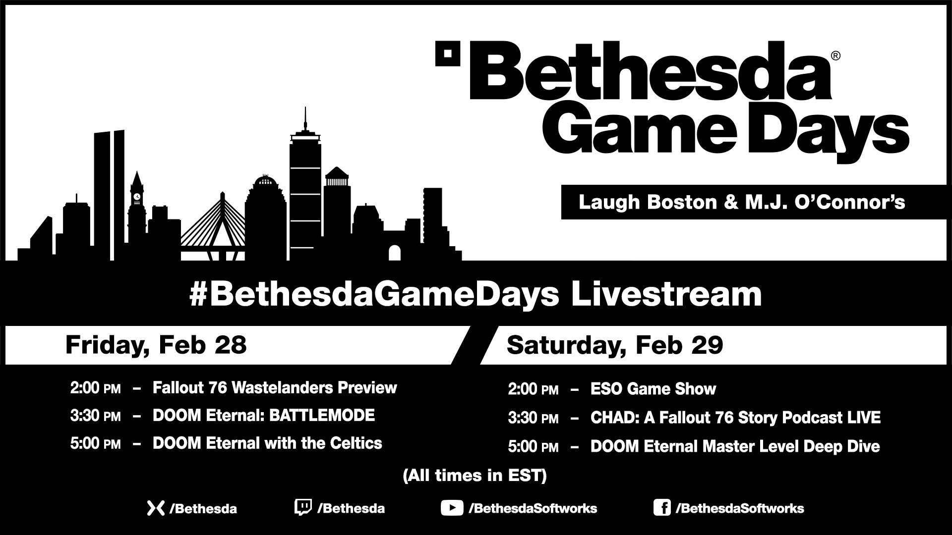 Bethesda GDays PaxEast 2020 1920x1080 Schedule-04