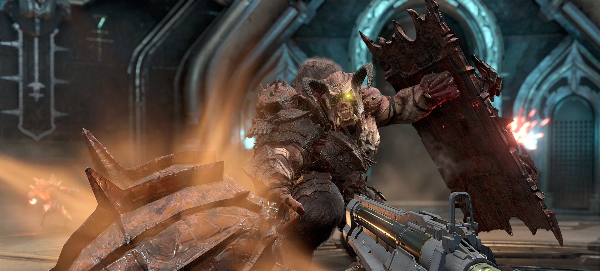 Doom Eternal Launch Details Hi, you know when you shoot an enemy (in for example doom3) and a blood texture appears at the location where you hit him, how is this done? doom eternal launch details