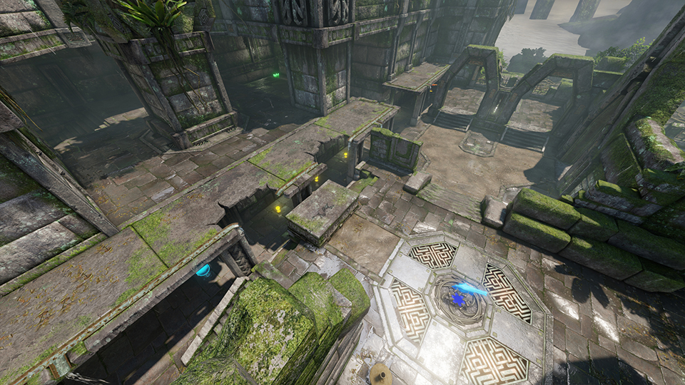Quake® Champions Official Website   Map Guide: Ruins of Sarnath