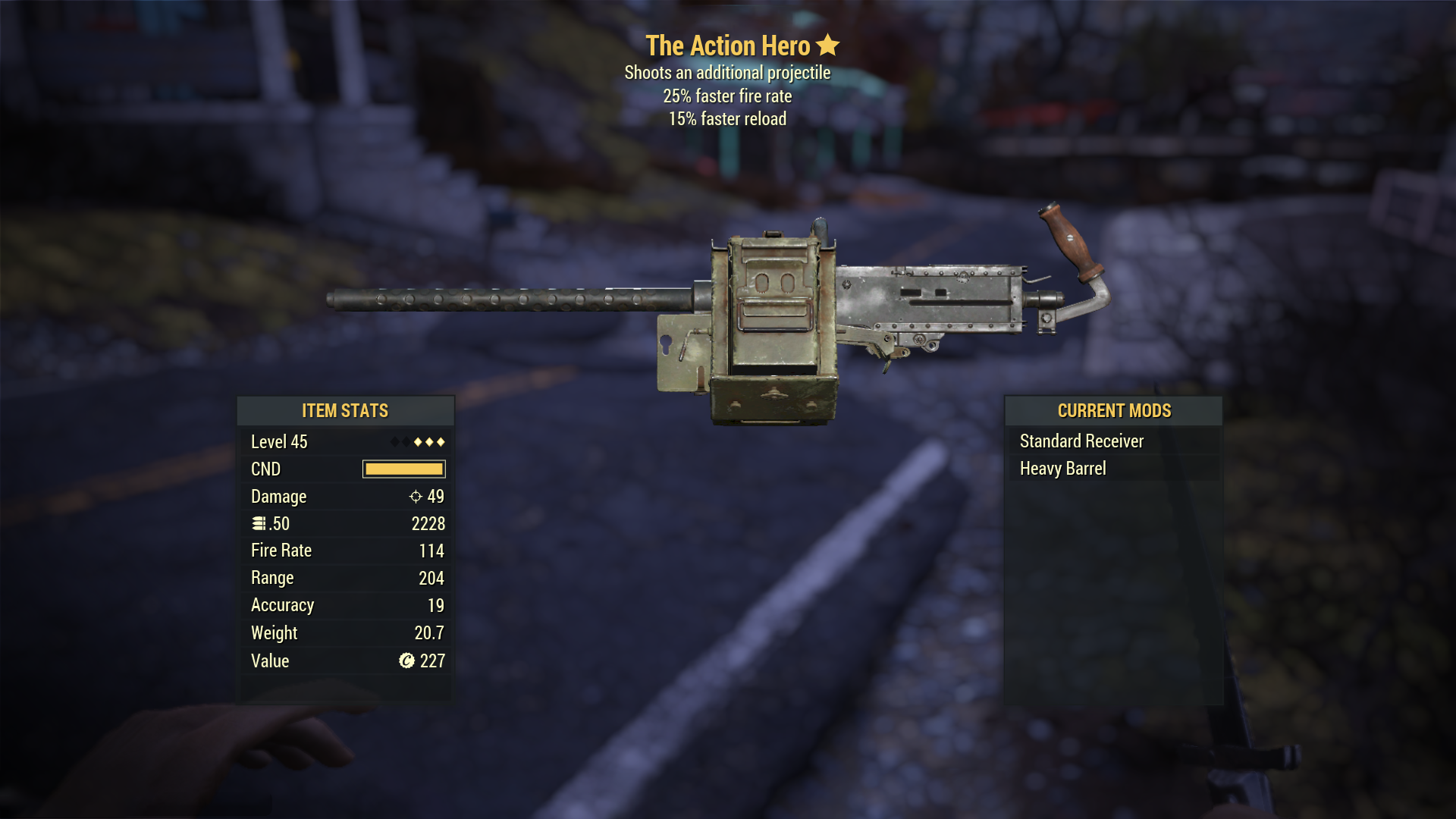 Survival 50CalMachineGun TheActionHero