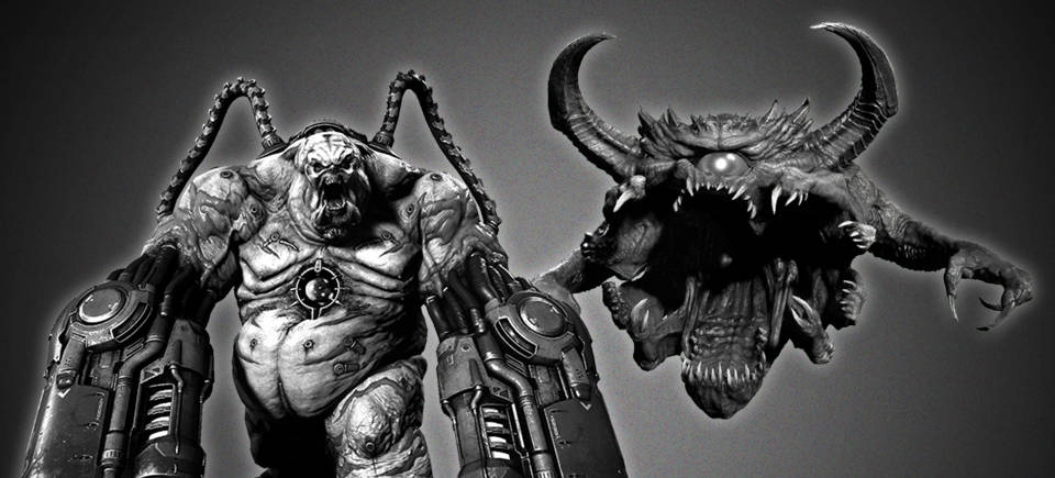 Desaturated demons abound in DOOM Eternal's CASTLE GRAYSCALE mini-event