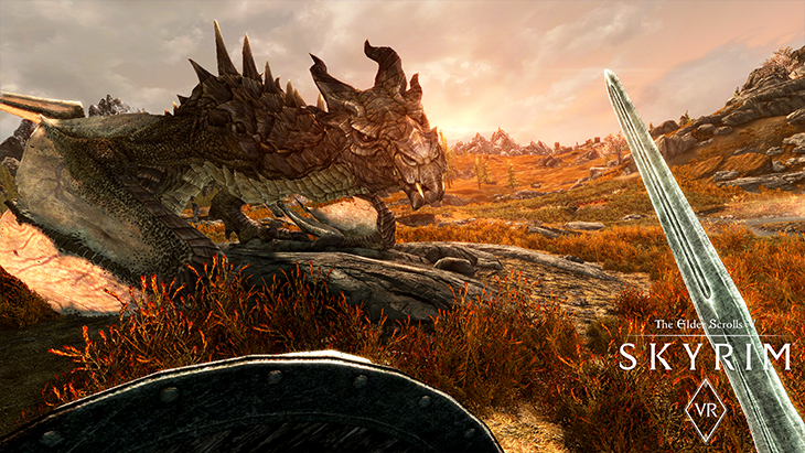Skyrim VR PC Dragon in-body