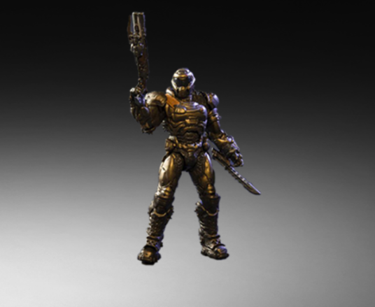 Bronze DOOM Slayer Figure