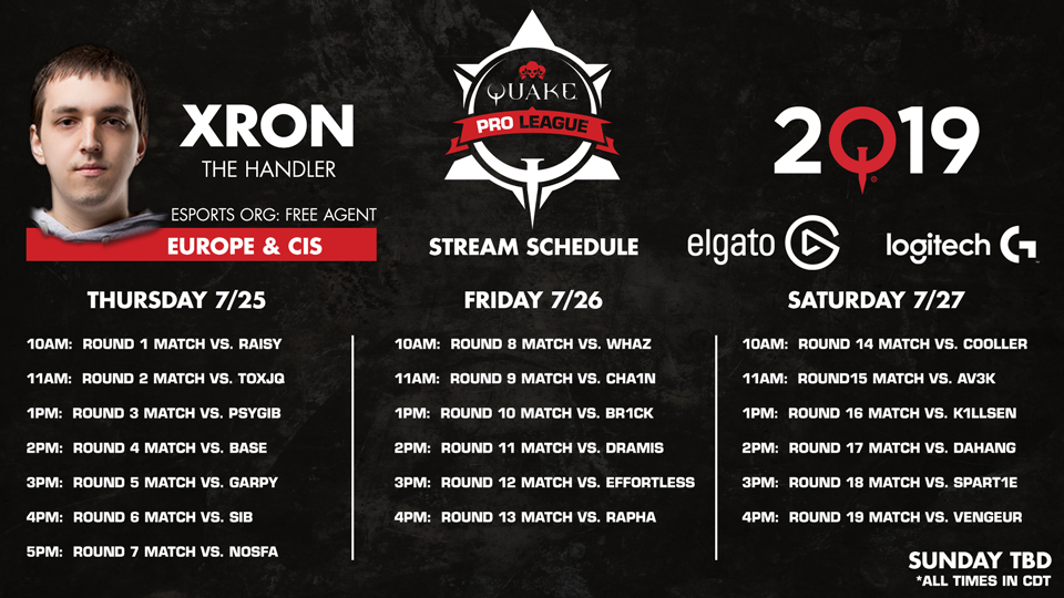 Xron-QuakeCon-Schedule 960x540