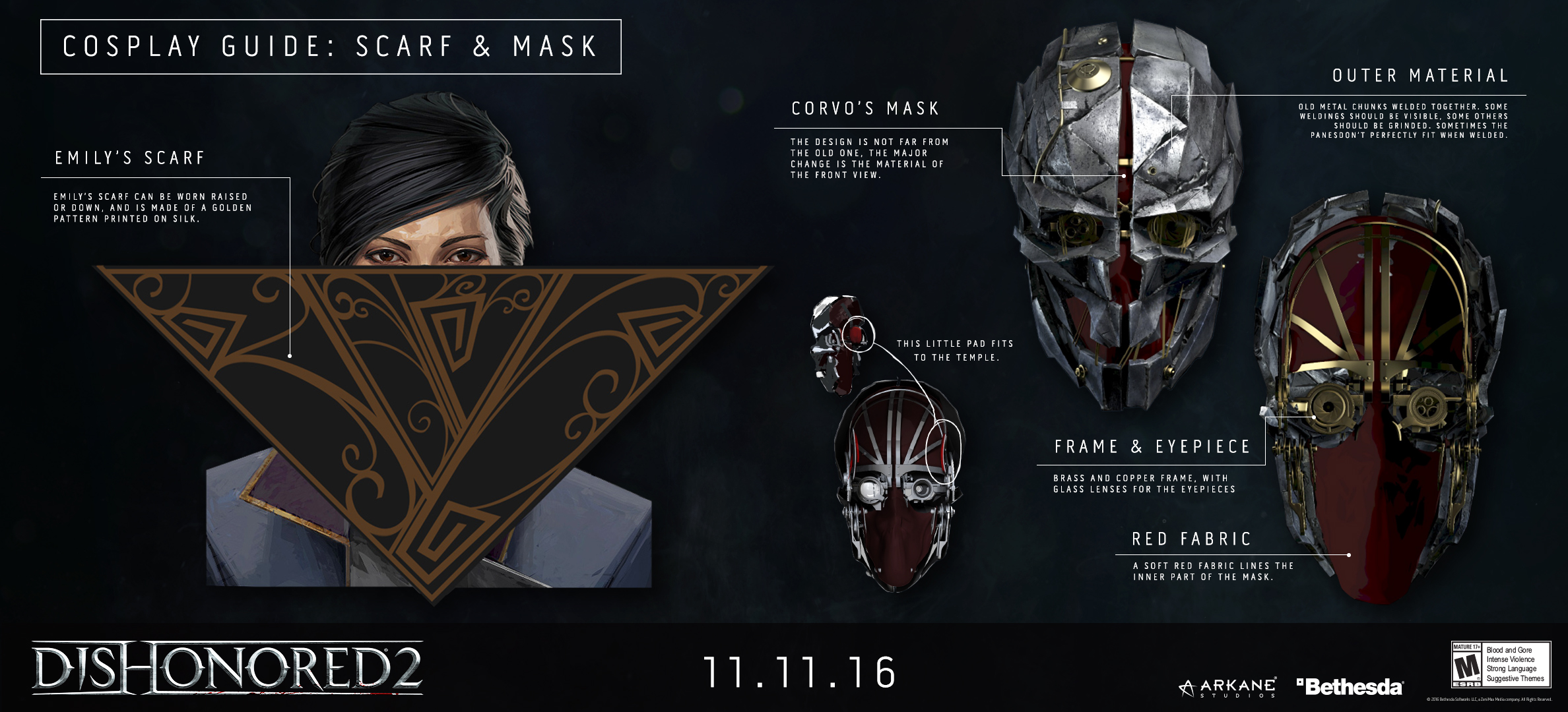 Dishonored 2 – Character Cosplay Guides