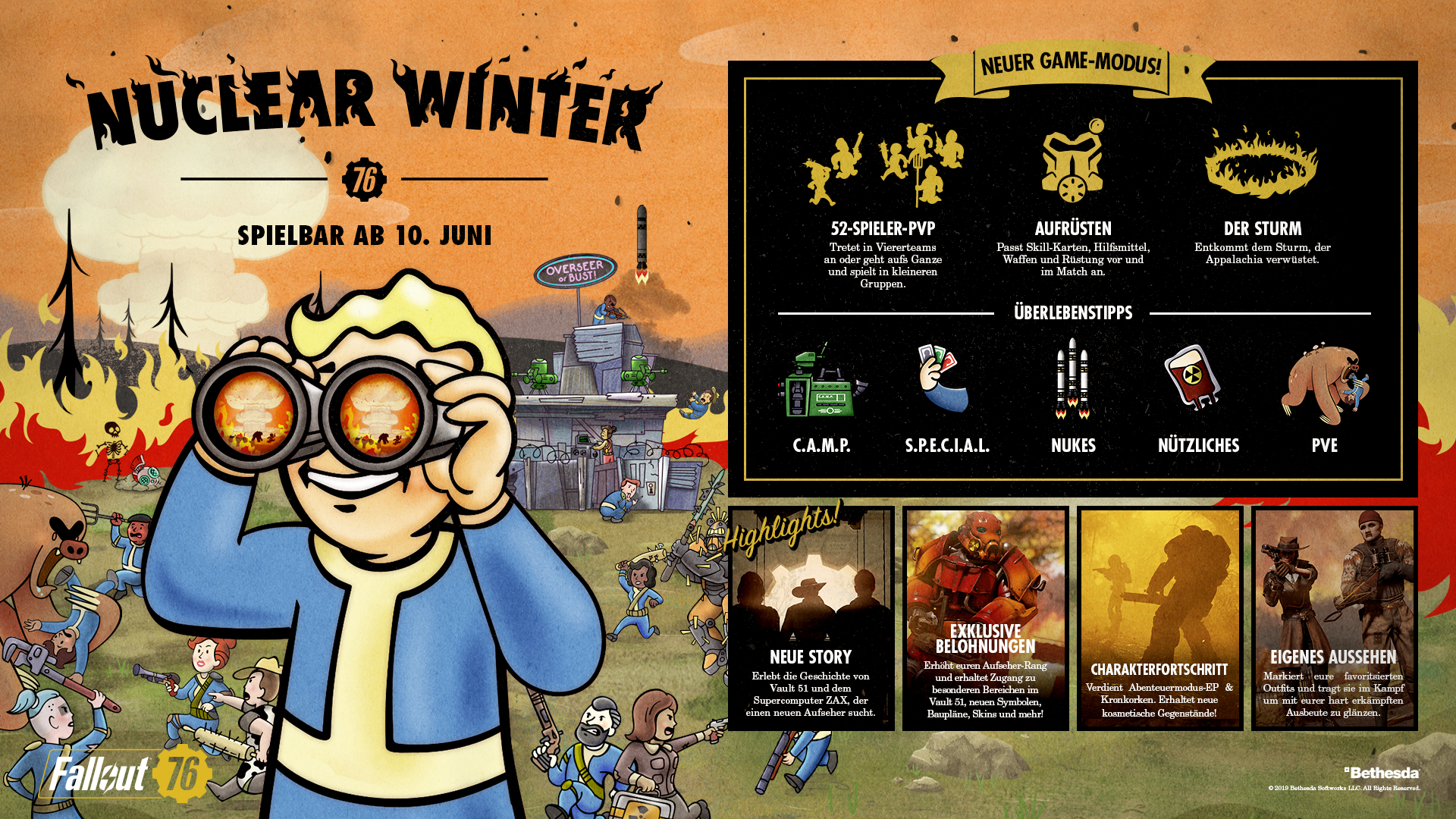 Fallout 76 Karte Deutsch.Fallout 76 Fallout 76 Nuclear Winter Is Here