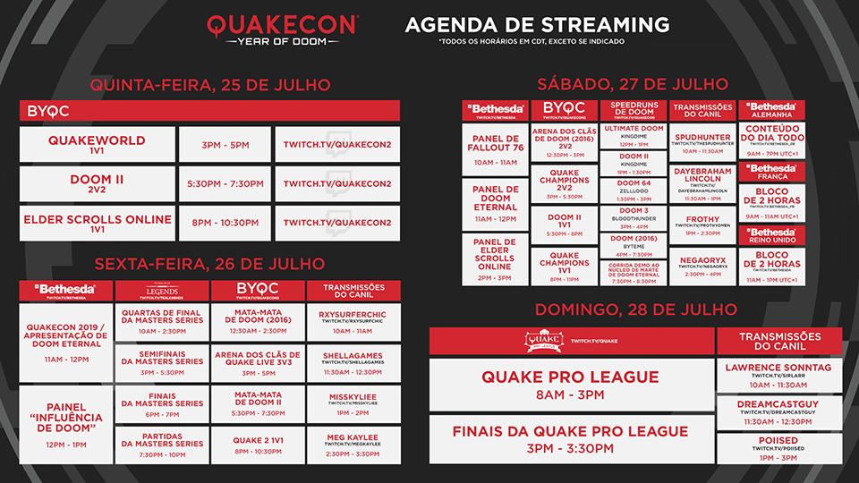 QuakeCon PT Schedule