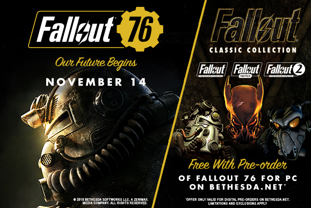 Fallout 76 | Upcoming Features and Fixes – November 2018