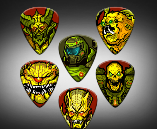 Custom DOOM Guitar Picks