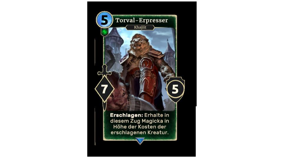 TESL Torval Extortionist in body DE - The Elder Scrolls: Legends - Eiskristall-Sammlung ab sofort erhältlich
