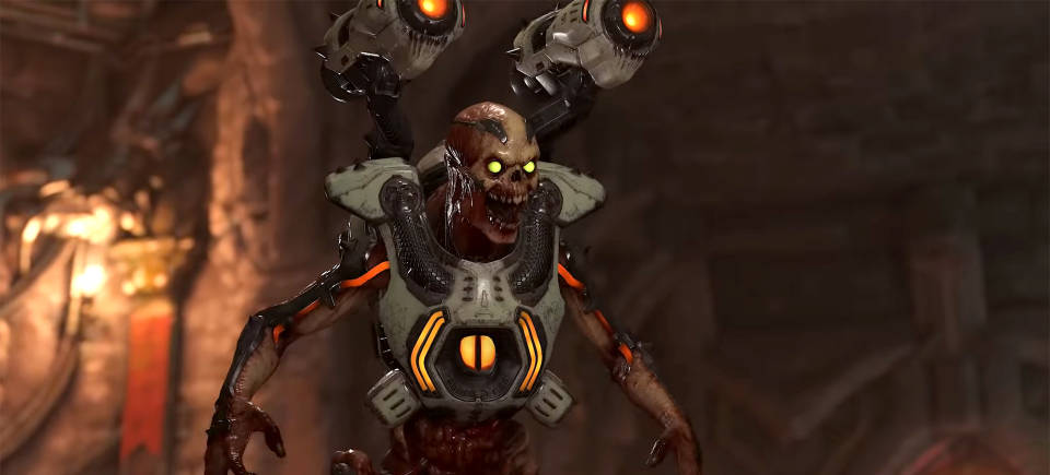 Check out gameplay footage of DOOM Eternal's 2v1 BATTLEMODE