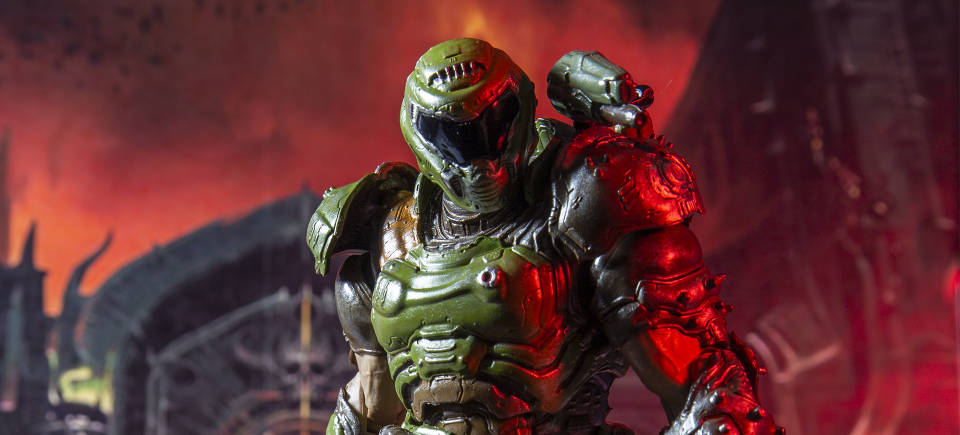 McFarlane Toys' DOOM Slayer puts the 'action' in 'action figure'