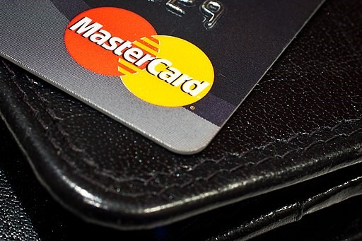 Mastercard Logo on the plastic card