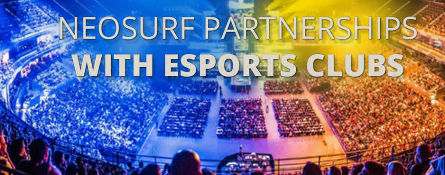 Neosurf partnerships with esports clubs