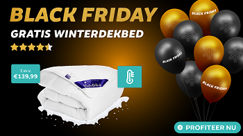 Black Friday Deals: Gratis Winterdekbed bij elke bestelling uit de actiecategorie! Black Friday 2020