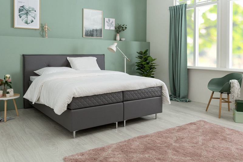 Boxspring Athena lease zijaanzicht beddengoed