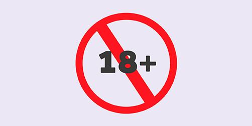 Geen 18 jaar of ouder