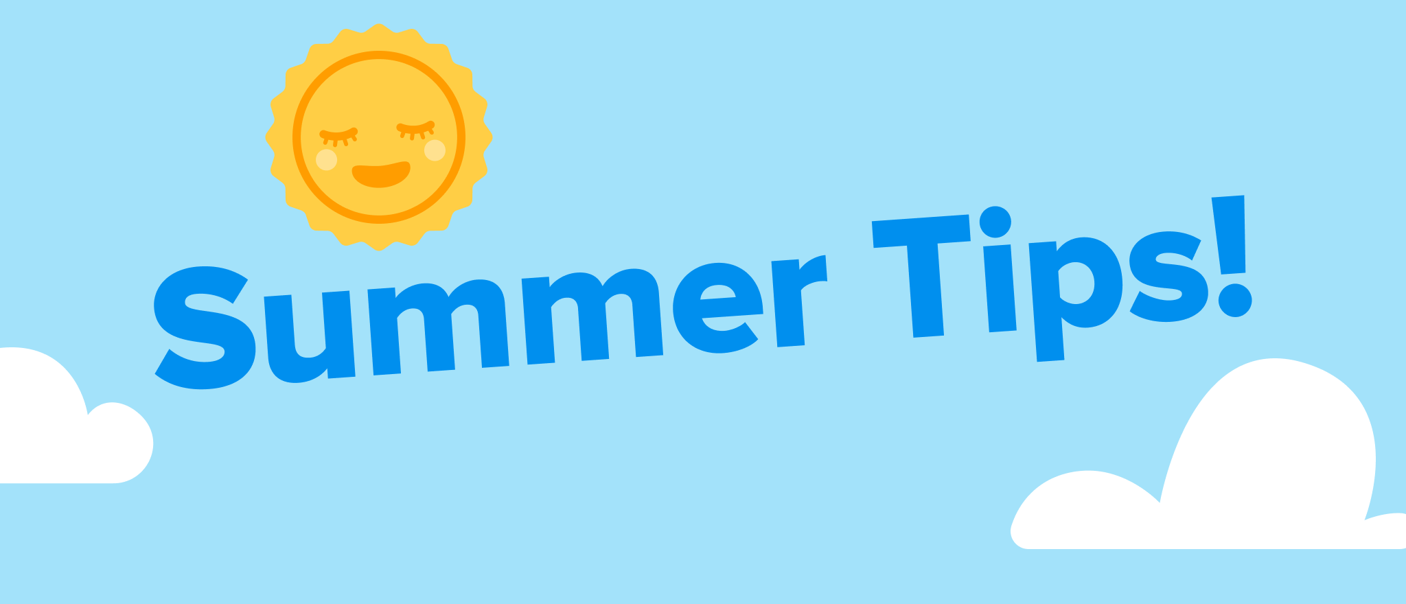 Summer tip part 2: Icing and cooling for hot days!