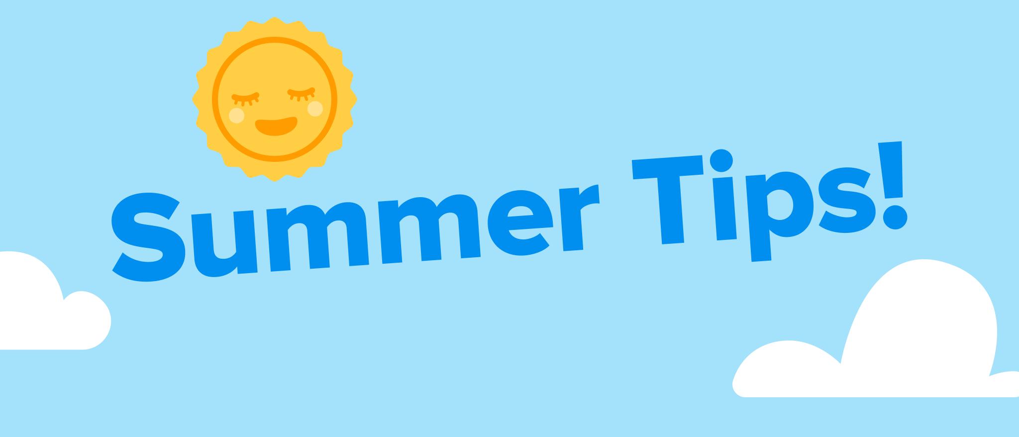 "Summer tip part 1: Nab some ""me time""!"