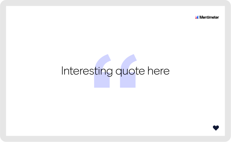 quote slide feature