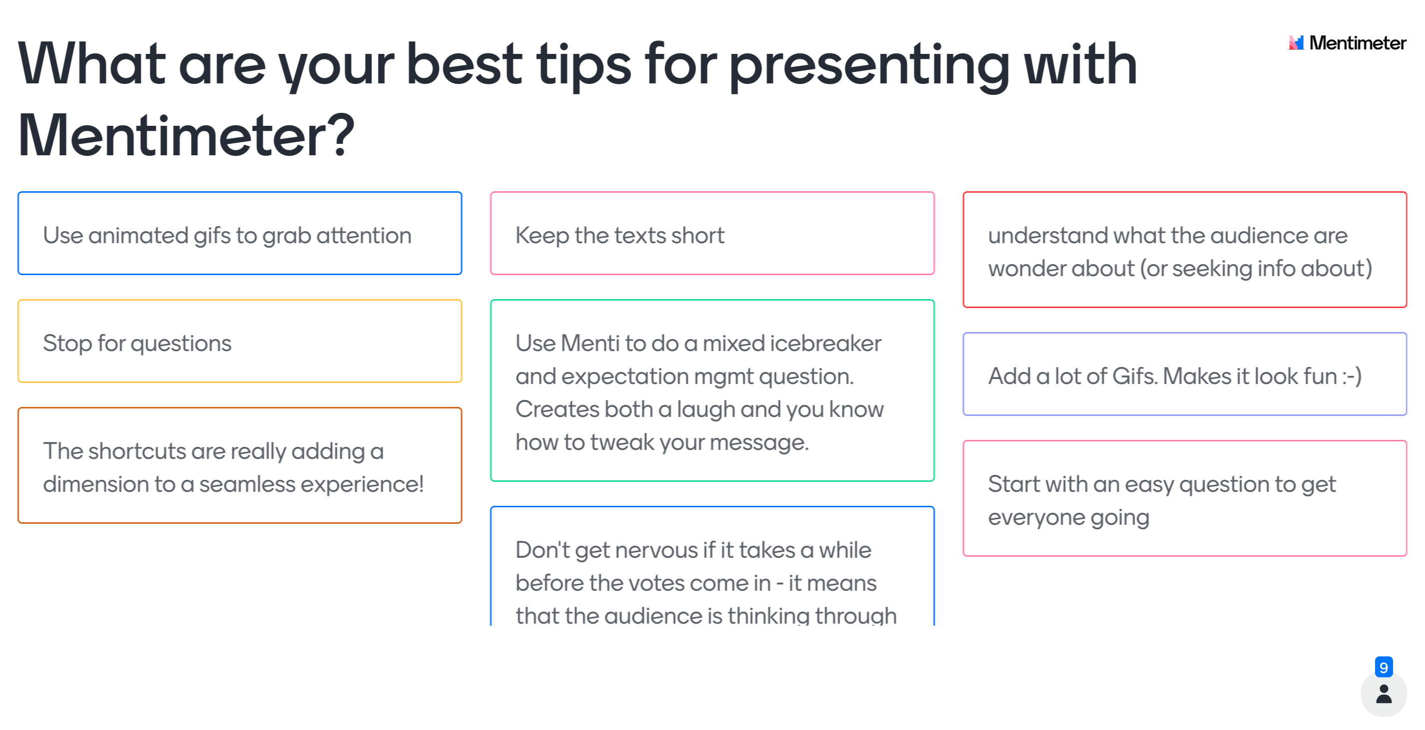 What are your best tips for presenting with Mentimeter?