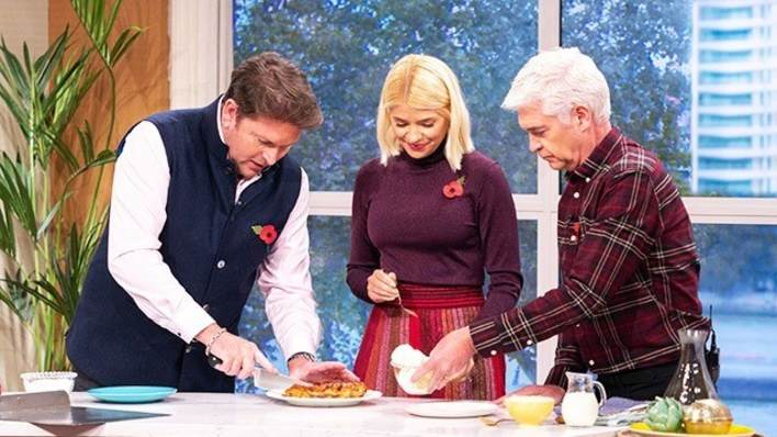 James Martin with Holly and Phillip
