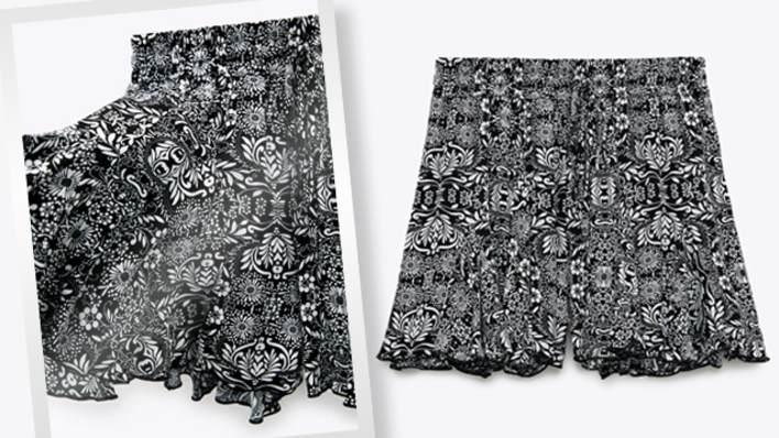 Zara printed Bermuda skort from zara.com
