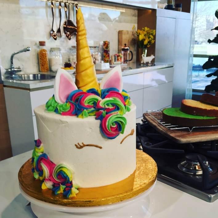 Juliet Sear's unicorn layer cake