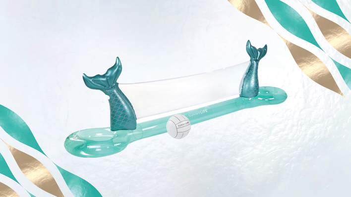 inflatable mermaid volleyball set