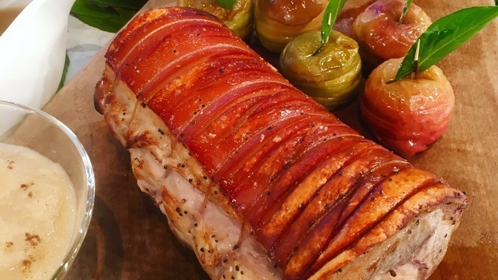 Phil Vickery's roast loin of pork with crackling and ...